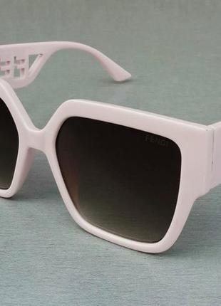 Fendi очки женские солнцезащитные большие нежно розовые стильные