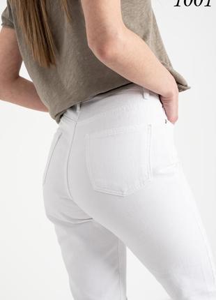 Женские джинсы белые легкие мом летние турция