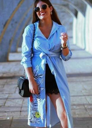 Zara платье халат накидка в полоску на запах