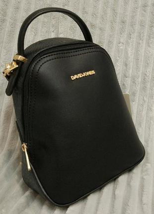 Клатч-рюкзак mini david jones 5539-3 черный