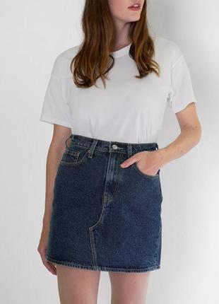 Джинсовая юбка levi's levis ливайс левис
