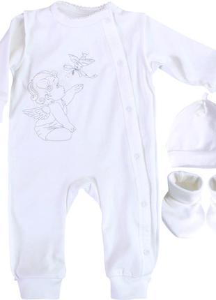 Комплект  для хрещення хрестин виписку костюмчик для крещения