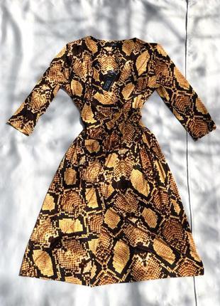 Платье длинное на запах с рукавом