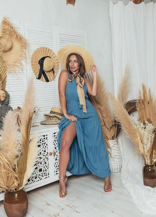Сарафан длинный, летний сарафае платье, жіноча літня сукня