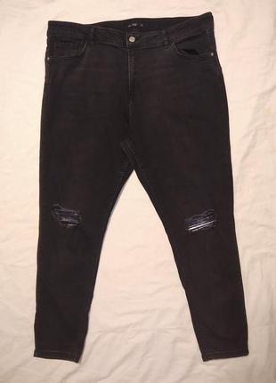 Крутые рваные джинсы батал