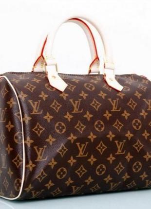 Louis vuitton monogram стильная кожанная сумка премиум класса