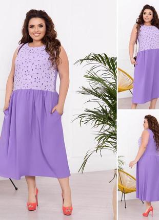 Коттоновое платье с прошвой