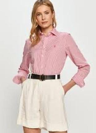Рубашка в принт гусиная лапка 100%хлопок