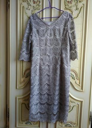 Нова стильна сукня класичного крою з дорогого та якісного мережива