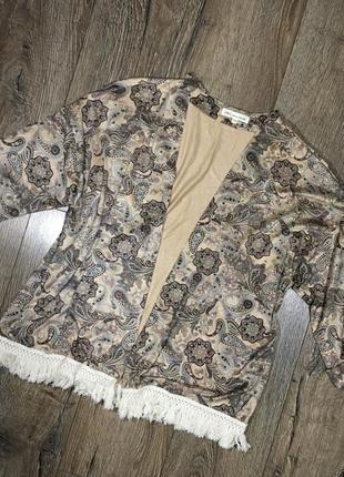 Накидка в пижамном стиле кимоно бохо