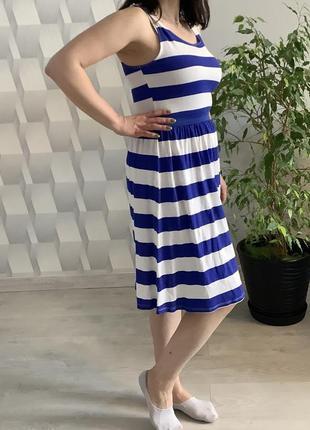 Очень классное платье h&m в полоску на лето/ сарафан в полоску