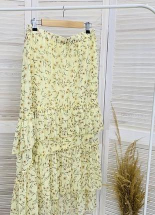 Спідниця h&m длинная юбка с рюшами