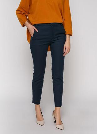 Укороченные зауженные брюки zara woman брюки дудочки сигареты размер евро 40