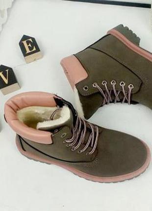 Зимние нубуковые ботинки timber. р.36-41. цвет серый, цена - 490 грн ... 4e5ca43a65f