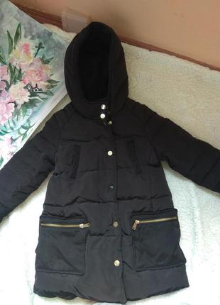 Пуховые пальто  122 размер