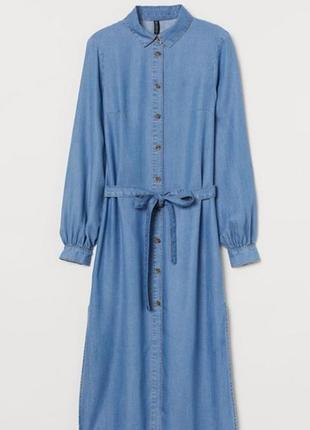 Джинсовое летнее  платье рубашка халат хм h&m размер с