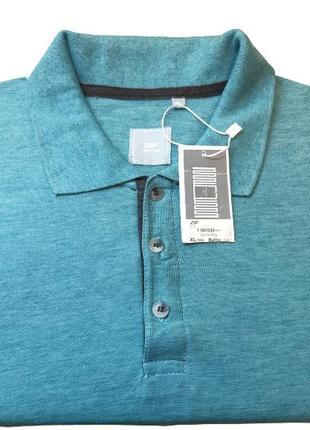 Мужская футболка поло zip, цвет морской волны, xl-3xl, израиль