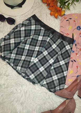 Базовая юбка солнце в клетку