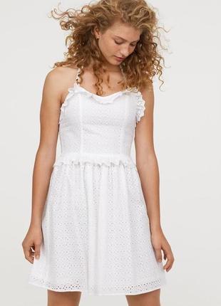 Новое хлопковое платье h&m, прошва. размер 36 и 38.