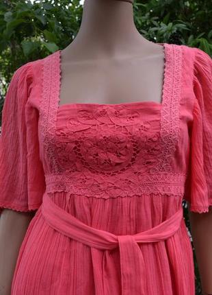 Платье из марлёвки lindex (производство индия) р. 36
