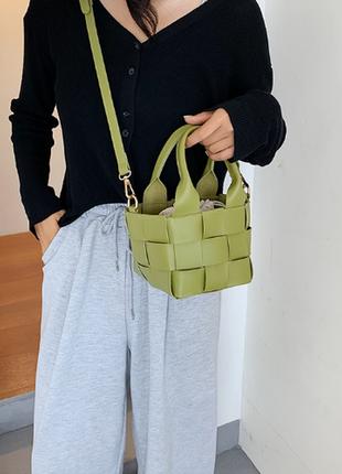 Модная  женская сумка сумка через плечо универсальная сумка-мессенджер тканая внутренняя сумка