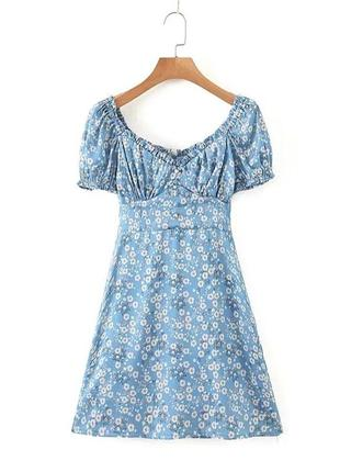 Платье мини, цветочное платье, модное платье, трендовое платье