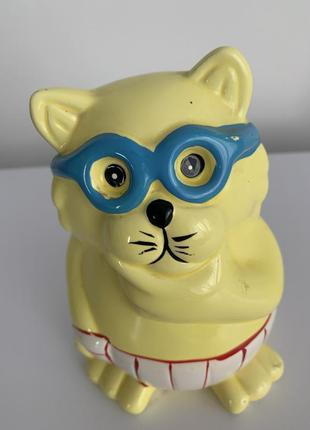 Статуетка, копилка, копілка кіт, кошка.