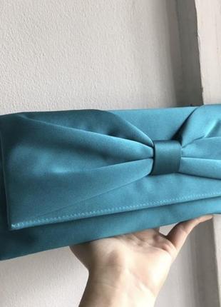 Итальянская сумочка клатч в цвете тиффани изумрудно голубой