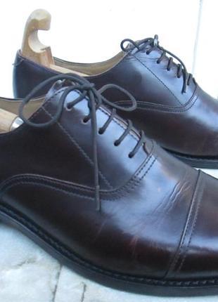 """Кожаные туфли броги  """" samuel windsor """" 44 р. ( 29.5 см). англия."""