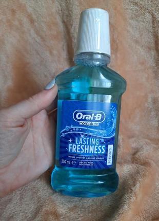 Ополаскиватель полости рта арктическая свежесть  oral-b complete lasting freshness arctic mint