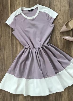 Сиреневое платье с пышной юбкой tago