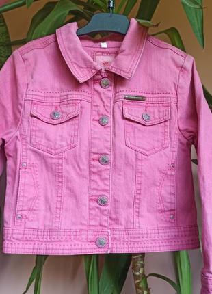 Розовая джинсовка пиджак джинсовый куртка