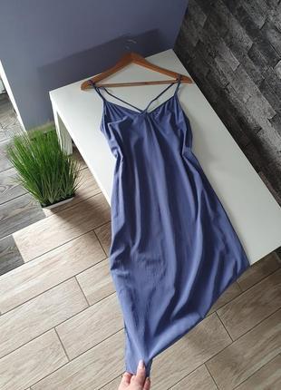 Платье шелковое комбинация iris&ink / платье 100% натуральный шёлк (zara * cos