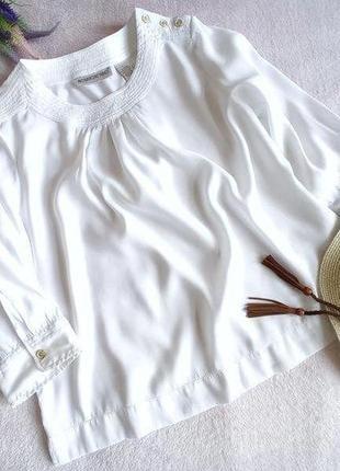 Белоснежная натуральная тонкая блуза