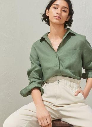 Рубашка h&m лен