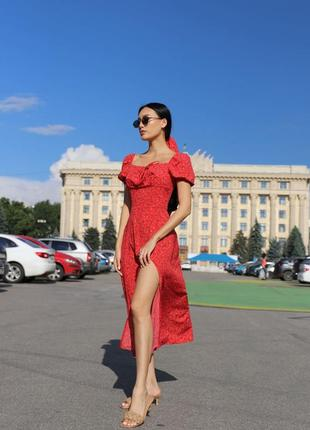 Сукня літня міді, платье летнее легкое миди