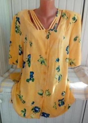Вискозная блуза рубашка