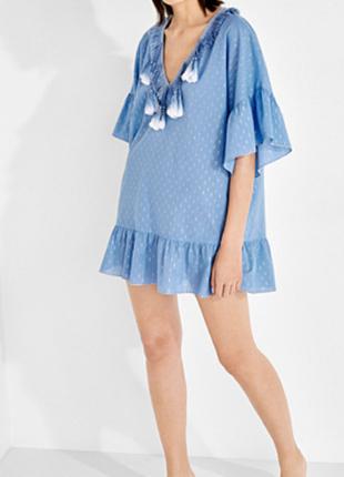Новая туника women' secret с кисточками хлопок пляжное платье