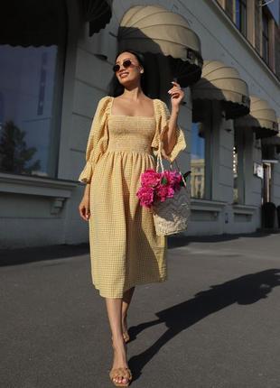 Платье с объемными рукавами, літня сукня з рукавами ліхтариками