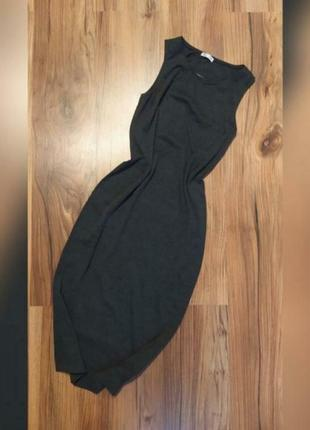 Серое платье cubus xs s m длинное миди свободного кроя