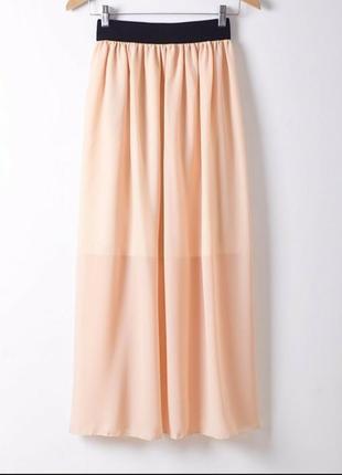 Разные цвета.шифоновая юбка в пол.