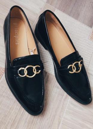 Чёрные лоферы туфли1 фото
