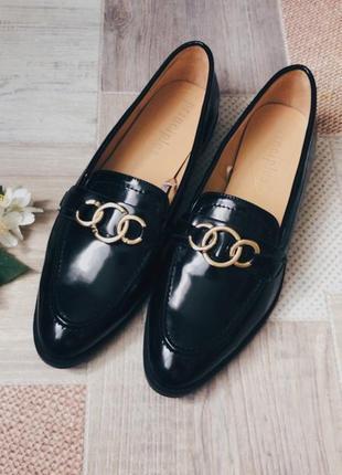 Чёрные лоферы туфли2 фото