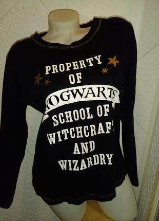 Лонгслив мерч гарри поттер хогвартс harry potter мерч хлопок герб hogwarts