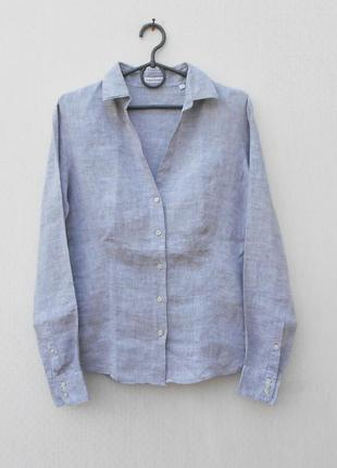 Летняя льняная рубашка с длинным рукавом robert friedman