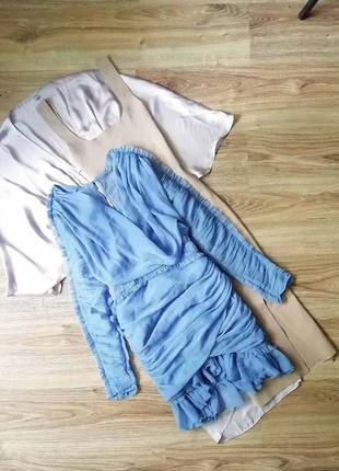 Коктейльное платье вечернее короткое мини плаття вечірня сукня коротка голубое блакитна