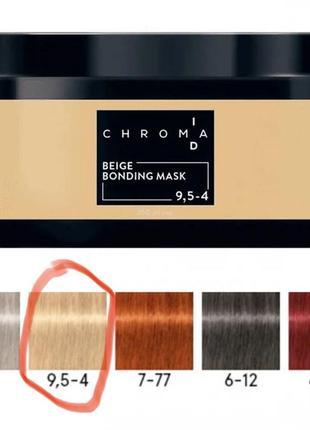 Тонирующая бондинг-маска schwarzkopf professional chroma id beige