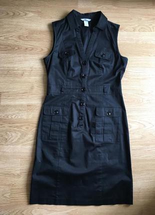 Очаровательное платье, чёрный сарафан м размер, жіноча сукня, плаття