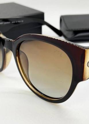 Ysl женские солнцезащитные очки поляризованные с градиентом и широкими дужками