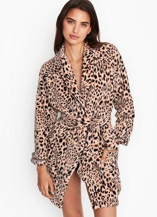 Женский леопардовый халат victoria's secret